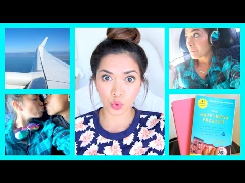 Traveling Makeup, Hair & Outfit! + MY TRAVELING ESSENTIALS! - ThatsHeart