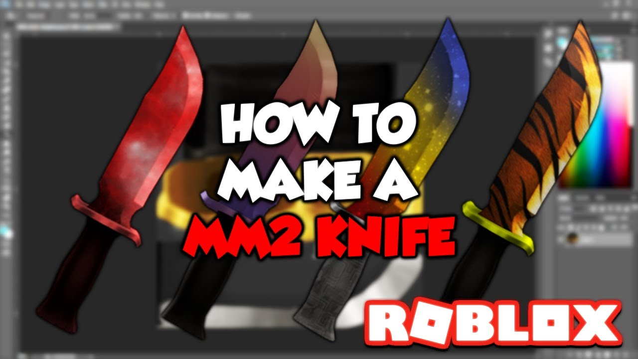 how to make your own mm2 knife     roblox tutorial