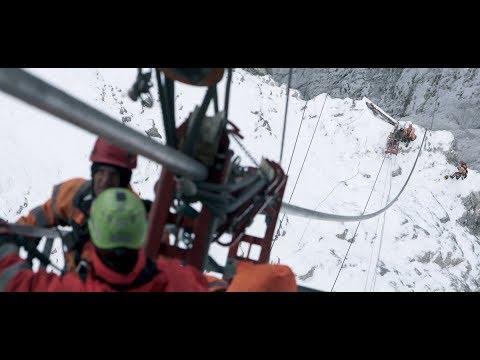Neubau Seilbahn Zugspitze – Seilzug und Montage der Seilbahnkabinen