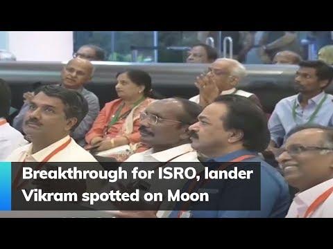 Breakthrough for ISRO, lander Vikram spotted on Moon