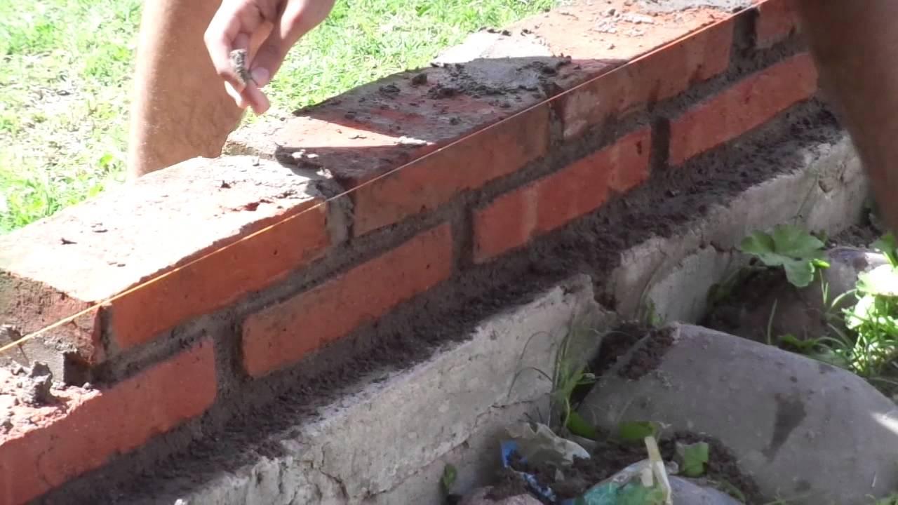 Levantando pared de 15 cm nuestra primera tapia 2 3 youtube Construir una pileta de ladrillos