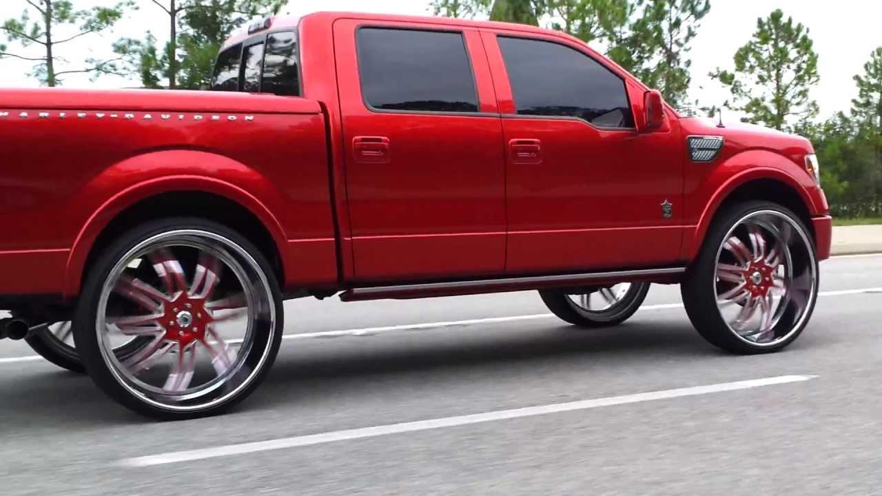 2011 Candy Red Harley Davidson F150 On 32 Quot Asantis Cruisin