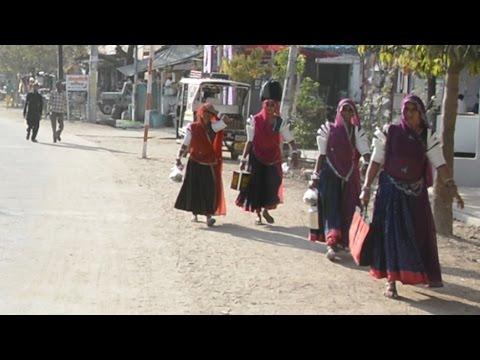 Indian Village Bhinmal Magh Chowk,Colony Video.भीनमाल,Rajasthan,India.Marwari Woman.rajasthani