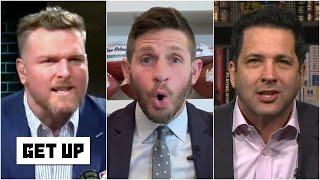 Pat McAfee gets FIRED UP defending Adam Schefter's take on Aaron Rodgers | Get Up