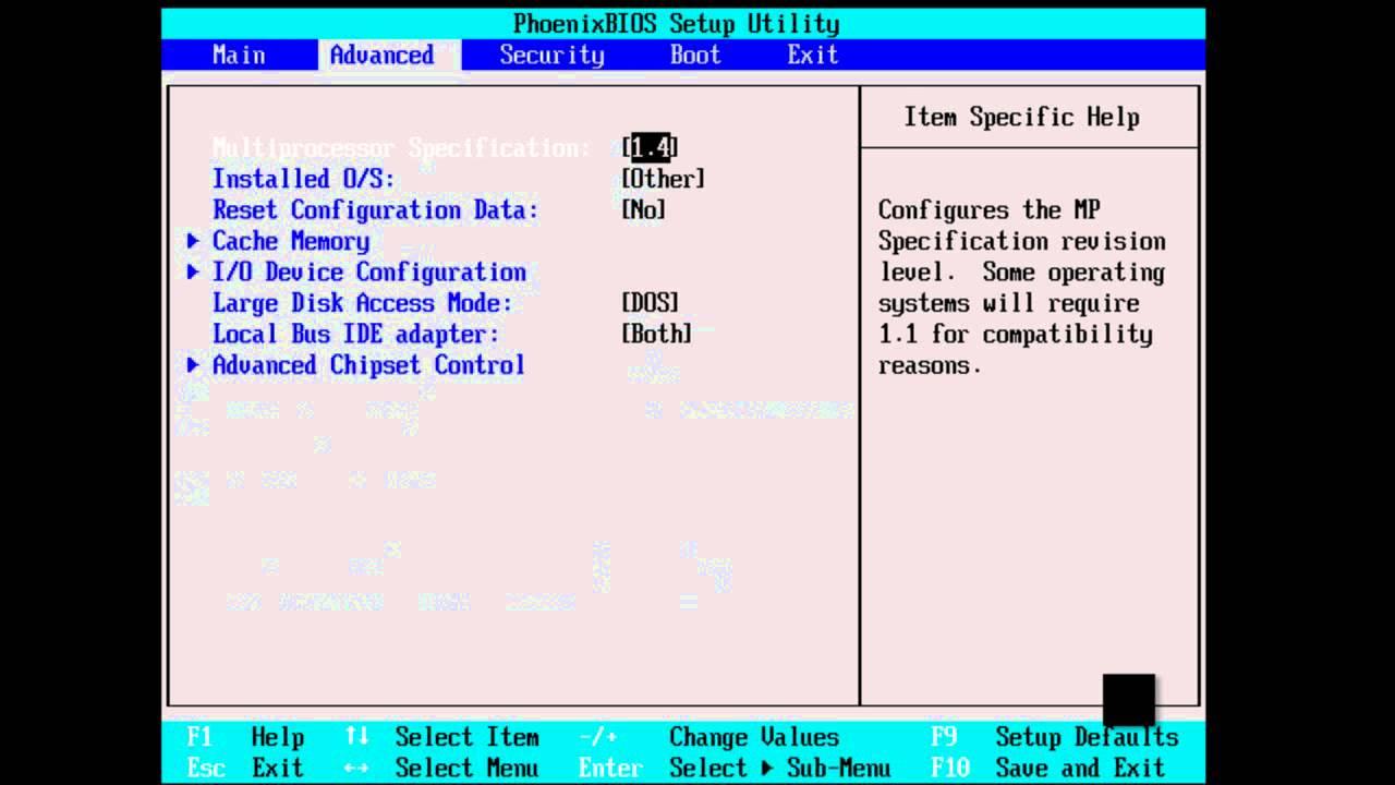 Configurar La BIOS para formatear nuestra PC