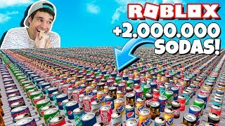WORK + 2.000.000 SODA CHALLENGE IN ROBLOX!