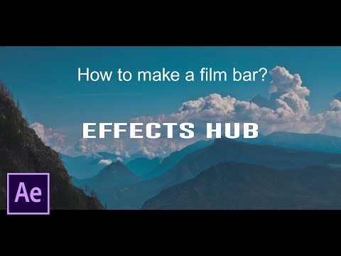 How to make a film bar in after effects | After Effects Tutorial by Effects Hub