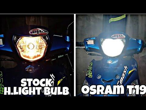 Installing Osram T19 headlight bulb | suzuki smash