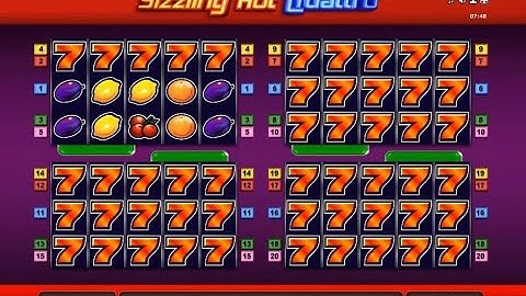 Sizzling Hot Quattro! One of the craziest thing seen in online casino.