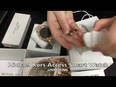 1736d02151 Unboxing of Michael Kors Access Smartwatch - YouTube
