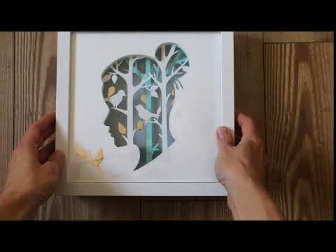 Creating Shadow box - from paper cut