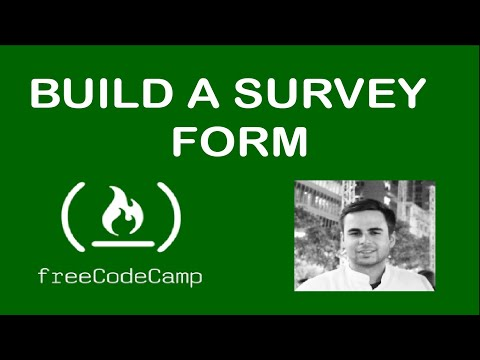 Build A Survey Form (freecodecamp.org)