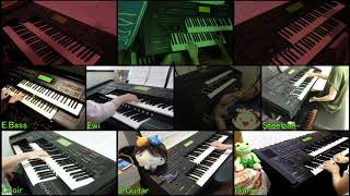 "We played ""勇者(YUH-JA)"" by T-SQUARE with 10 electone player. All t..."