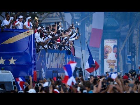 France celebrate their heroes' return