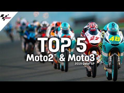 Top 5 Moto2™ & Moto3™ moments | 2019 Qatar GP