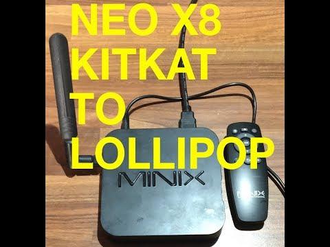 Minix Neo X8 KitKat To Lollipop