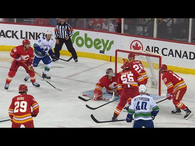 Mike Smith leaves Goldobin speechless with spectacular glove save!