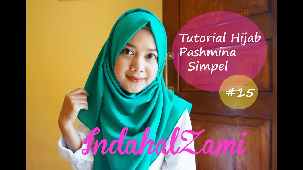 Tutorial Hijab Pashmina Simple Pashmina Diamond Italiano 15