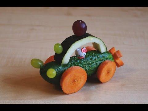 Машина. Поделки из овощей и фруктов для детей. Как сделать своими руками?