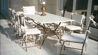 Metal & Stone Outdoor Dining Tables - Patio Furniture, Patio Tables, Patio Chairs