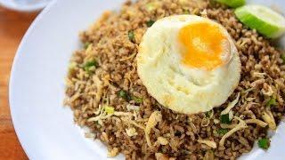 Hướng dẫn cách làm cơm rang Indonesia   Indonesia fried rice ngon hấp dẫn