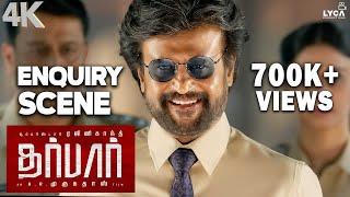 DARBAR (Tamil) - Enquiry Scene   Rajinikanth   Nayanthara   AR Murugadoss   4K (Eng Subs)