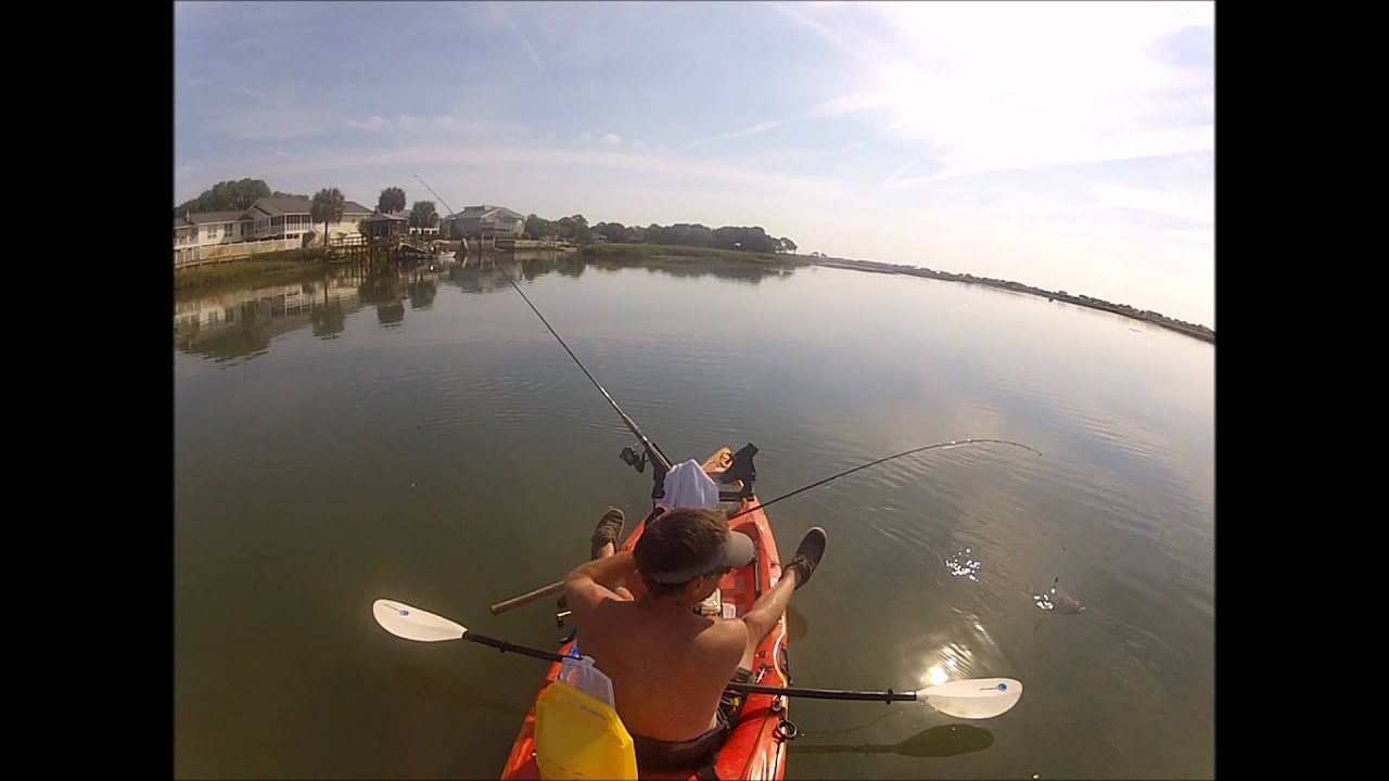 Bring a net kayak fishing in murrells inlet youtube for Murrells inlet sc fishing