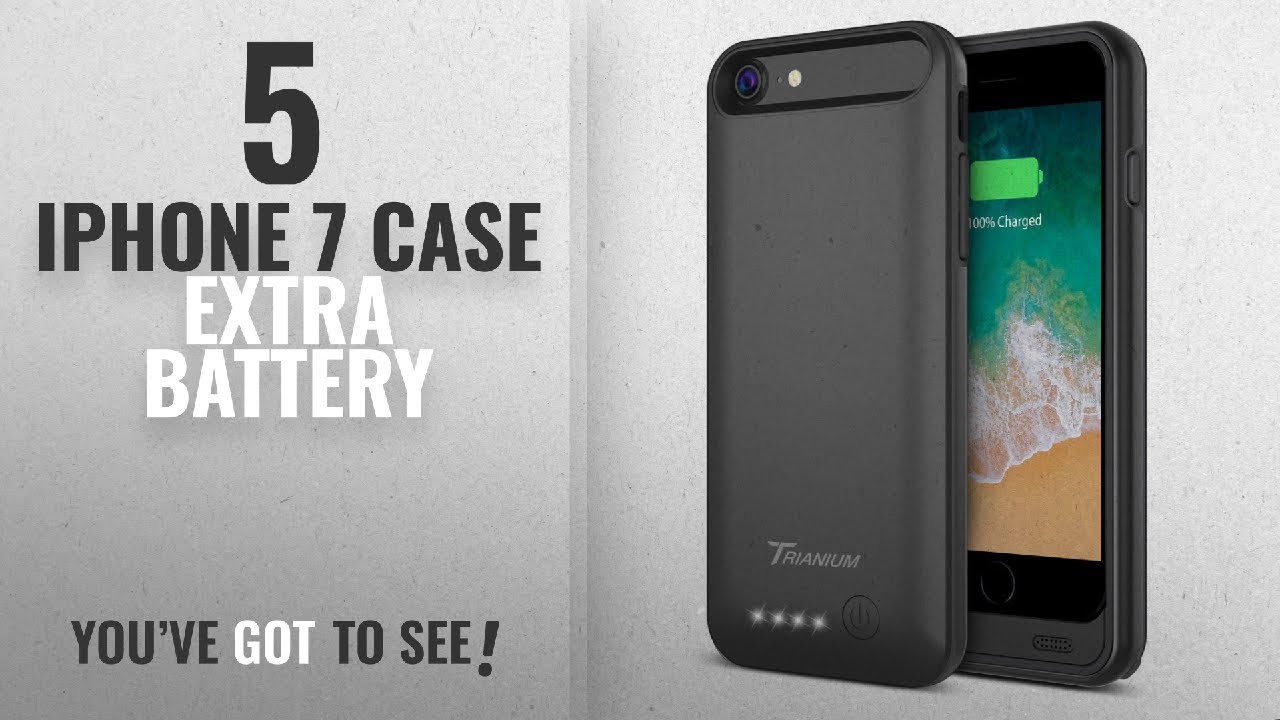 info for 27dc3 40a50 Top 5 IPhone 7 Case Extra Battery [2018 Best Sellers]: iPhone 8 / 7 Battery  Case, Trianium Atomic