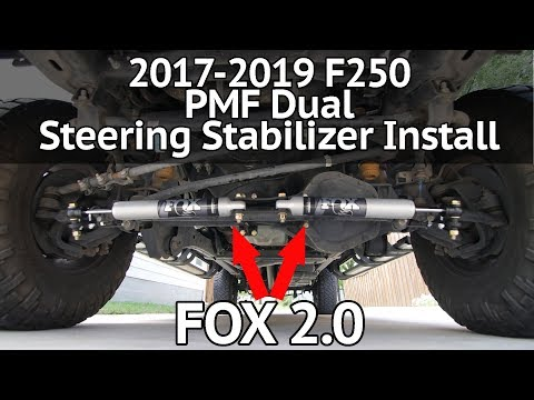 2017-2019 F250 PMF Dual Steering Stabilizer Install and Review