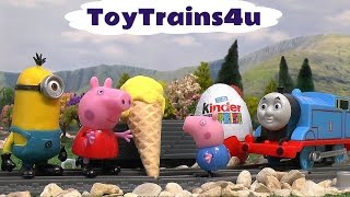 thomas and friends peppa pig minions play doh surprise eggs cars mlp frozen funny toys toytrains4u