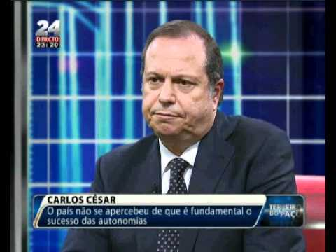 "Carlos César no programa ""Terreiro do Paço"" da TVI de 29.01.2012"