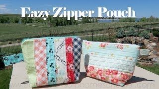 Easy Zipper Pouch // SEWING TUTORIAL