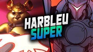 HARBLEU INSANE HAMMOND! 41 ELIMS! duo w/ SUPER! [ OVERWATCH SEASON 20 TOP 500 ]