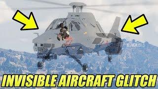 GTA 5 ONLINE INVISIBLE AIRCRAFT GLITCH!!! (GTA 5 Glitches & Tricks)