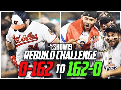 0-162 to 162-0 Rebuilding Challenge | MLB the Show 19 Franchise