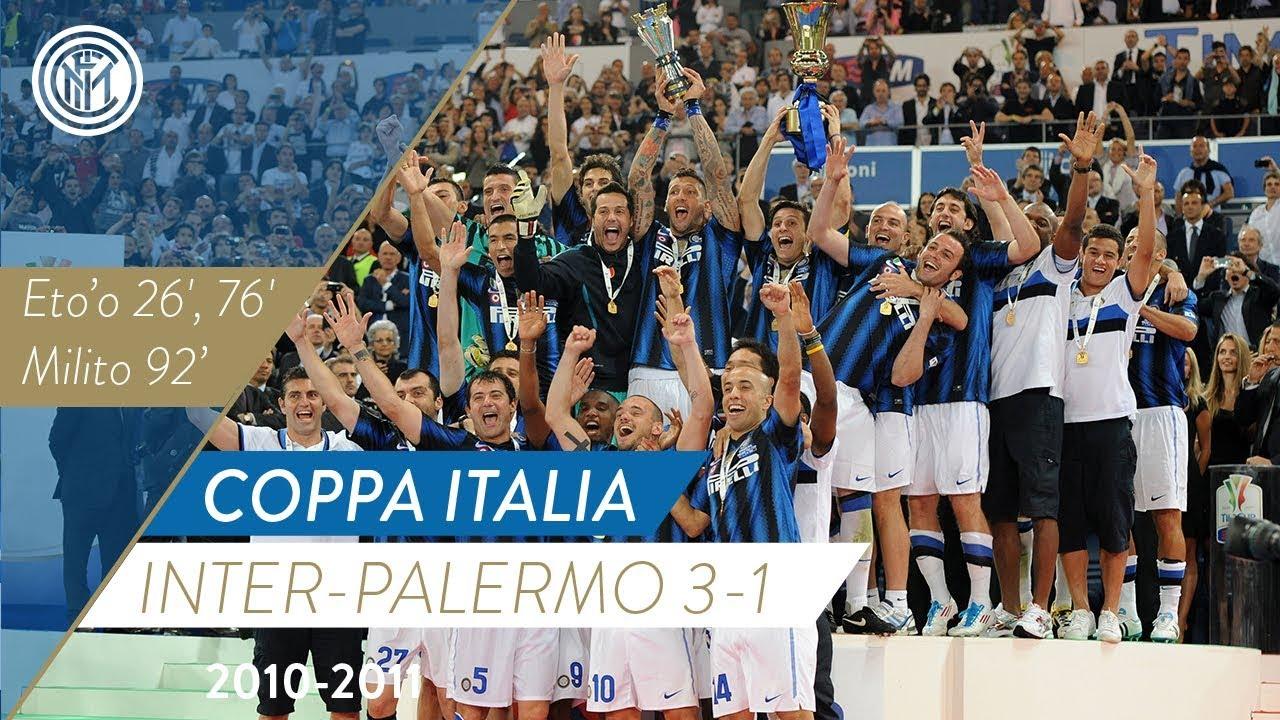 VIDEO - Eto'o e Milito per l'ultimo trofeo dell'Inter: Coppa Italia col  Palermo
