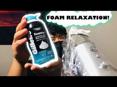 ASMR | SHAVING CREAM FOAM & PAINT BRUSH SOUNDS!