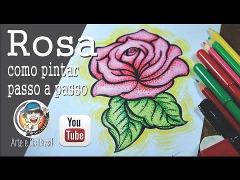 Como Pintar Rosa Estilo Pontilhismo Youtube