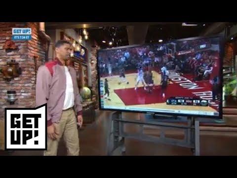 Jalen Rose breaks down film of Donovan Mitchell's putback dunk vs. Rockets | Get Up! | ESPN