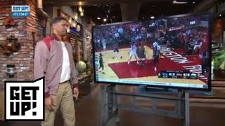 Jalen Rose breaks down film of Donovan Mitchell's putback dunk vs. Rockets | Get Up! | ESPN