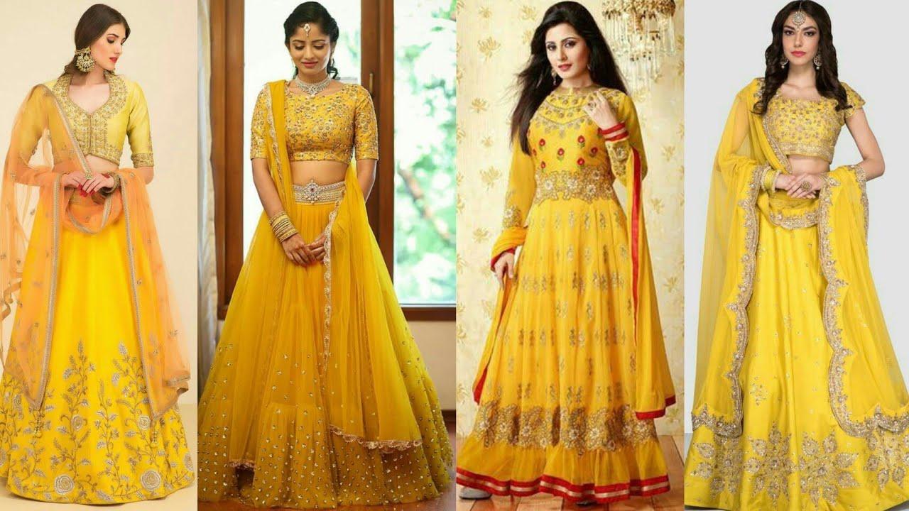 2a34e28a594f Yellow Colour Wedding Dress | Party Wear collection| Lehenga | Reception Party  Dress | Fashiontrendz