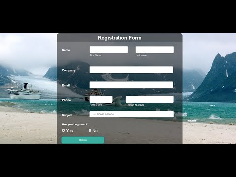 How To Create Registration Form Design Using Html And Css || How To Make Registration Form Tutorial
