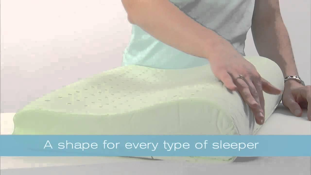 brookstone biosense memory foam pillow at bed bath & beyond - youtube