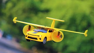 flying airplane Car - How To Make a Flying airplane - flying airplane Car