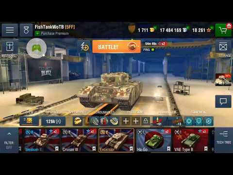 WoT blitz Excelsior gameplay |