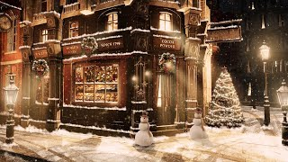 A bakery shop in the Victorian era l Christmas Jazz Music + Carriage sounds