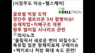 [시장주도 이슈+헬스케어]글로벌 빅팜 도약첫단추 셀트리…
