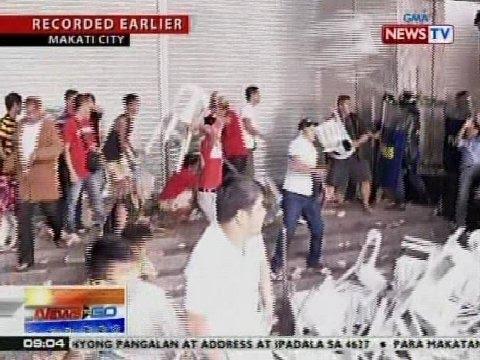NTG: Mga pulis at Binay supporters, nagkagirian sa Makati City Hall