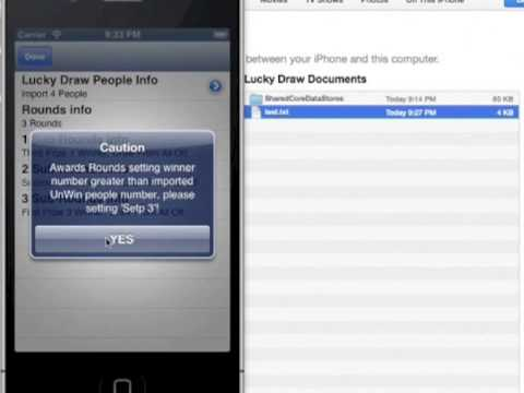 Lucky Draw Software For Ios Youtube