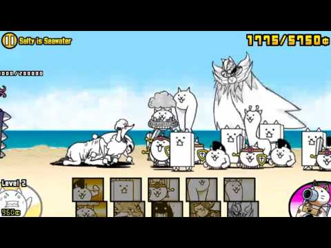 [The Battle Cats] SoL - Swimming Cats - Salty is Seawater